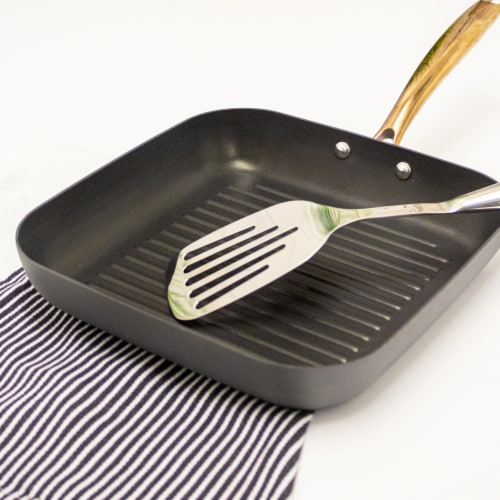 BergHOFF Hard Anodized Grill Pan - Black/Rose Gold Perspective: right