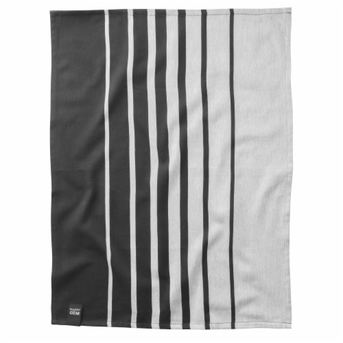 BergHOFF Gem Kitchen Towel Set - Black/White Perspective: right