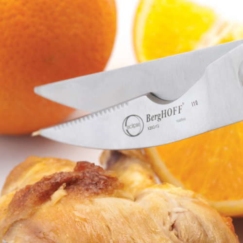 BergHOFF Essentials Stainless Steel Triple Riveted Poultry Shears Perspective: right