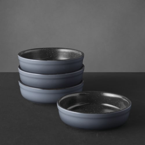 BergHOFF Gem Stoneware Crème Brûlée Ramekins - 4 Pack - Gray Perspective: right