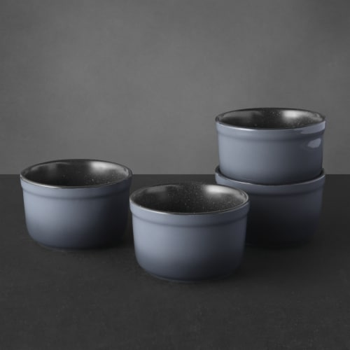 BergHOFF Gem Stoneware Large Ramekins - 4 Pack - Gray Perspective: right