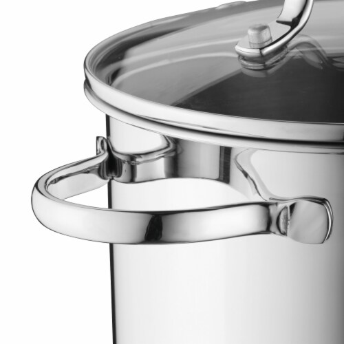 BergHOFF Stainless Steel Covered Stockpot Perspective: right