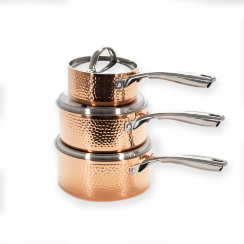 BergHOFF Tri-Ply Cookware Set - Hammered Copper Perspective: right