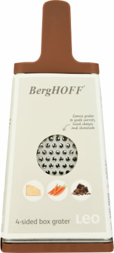 BergHOFF 4-Sided Box Grater - Pink/Gray Perspective: right