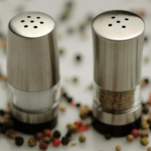 BergHOFF Geminis Stainless Steel Mini Salt & Pepper Dispensers Perspective: right