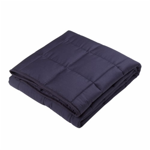 Glitzhome Cotton Quilted Weighted Blanket and Removable Duvet Cover Perspective: right