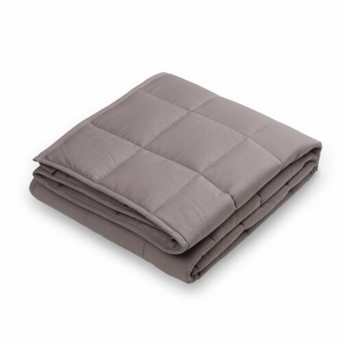 Glitzhome Cotton Quilted Weighted Blanket and Removable Duvet Cover - Shell Perspective: right