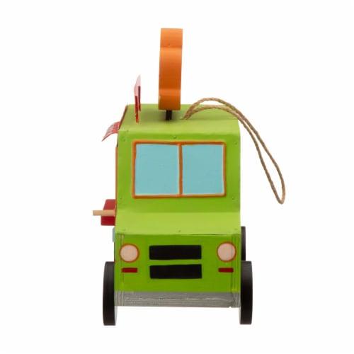 Glitzhome Wooden Mexico Taco Truck Decorative Birdhouse Perspective: right