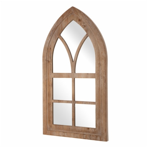 Glitzhome Gothic Style Window Frame Classic Wall Mirror Decor Perspective: right