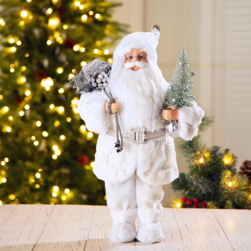 Glitzhome Snowflake Santa Figurine Decoration Perspective: right