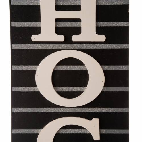Glitzhome Halloween Wooden Hocus Pocus Sign Decor Perspective: right