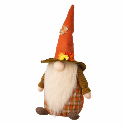 Glitzhome Fabric Fall Gnome Standing Decoration Perspective: right