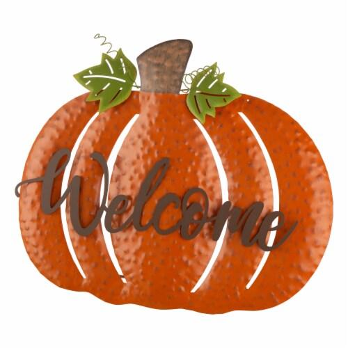 Glitzhome Metal Fall Pumpkin Yard Sign Perspective: right