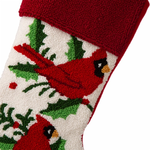 Glitzhome Cardinal Holiday Stocking Perspective: right