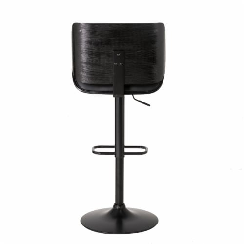 Glitzhome Mid-Century Modern Adjustable Height Swivel Bar Stool - Black Perspective: right