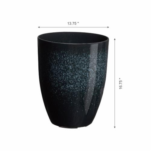 Glitzhome Oversized Faux Ceramic Tall Bowl Plastic Pot Planter - Black Perspective: right