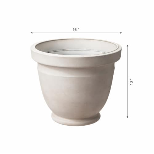 Glitzhome Oversized Faux Ceramic Pot Planter Perspective: right