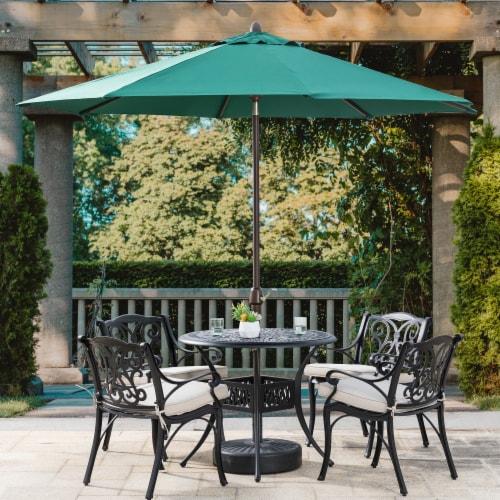 Aluminium Selt Tilt Patio Umbrella - Dark Green Perspective: right