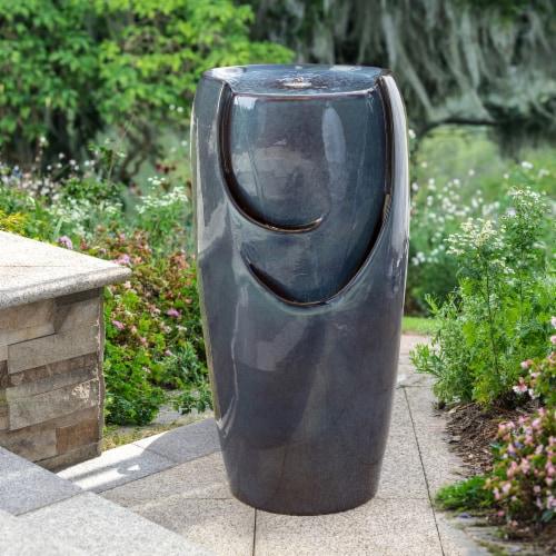 Glitzhome Ceramic Pot Fountain - Turquoise Perspective: right