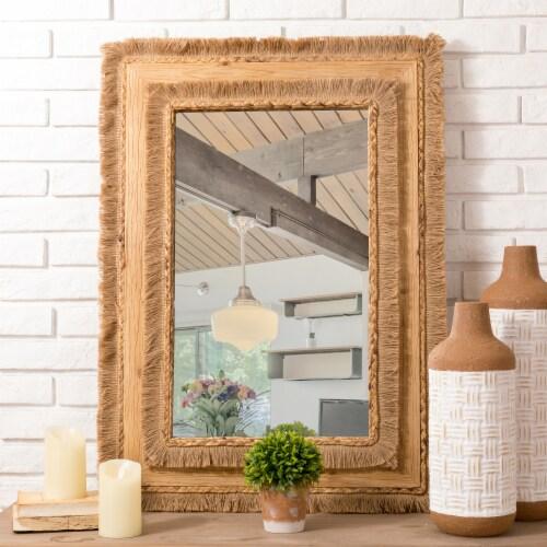 Glitzhome Oversized Bohemian Style Decorative Wall Mirror Perspective: right