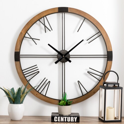 Glitzhome Oversized modern Farmhouse Wall Clock Perspective: right