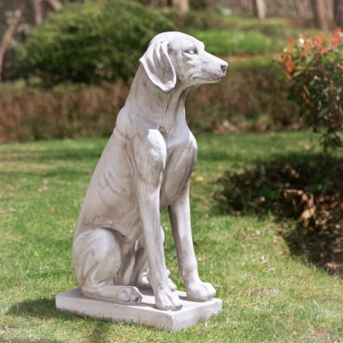 Glitzhome Sitting Labrador Retriever Dog Statue - Beige Perspective: right