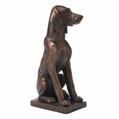 Glitzhome Sitting Dog Decorative Garden Statue Perspective: right