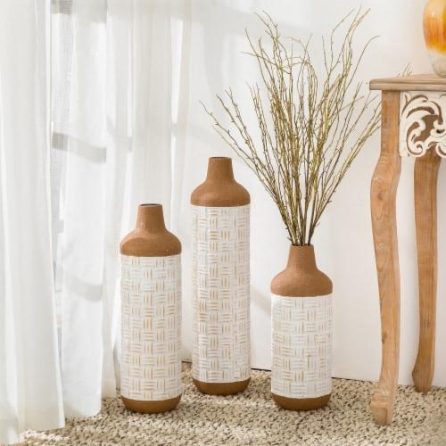 Glitzhome Boho Farmhouse Decorative Metal Floor Vases Perspective: right