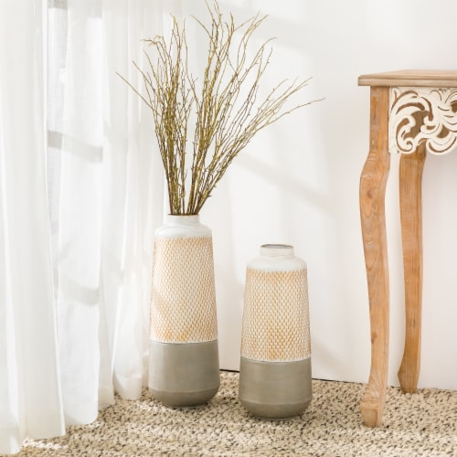 Glitzhome Modern Farmhouse Industrial Textured Table Vases Perspective: right