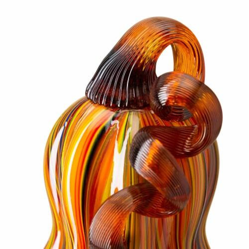 Glitzhome Multi-Striped Glass Gourd Perspective: right