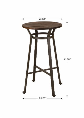 Glitzhome Rustic Steel Round Bar Table and Stools Set Perspective: right
