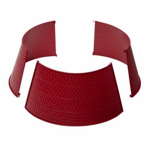 Glitzhome Hammered Metal Tree Collar - Red Perspective: right