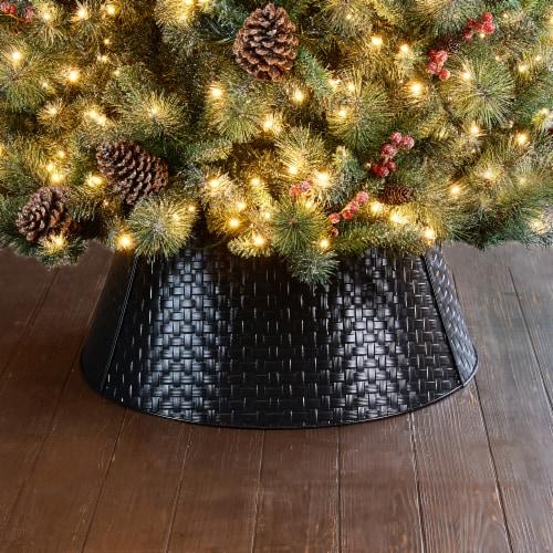 Glitzhome Metal Woven Tree Collar - Black Perspective: right