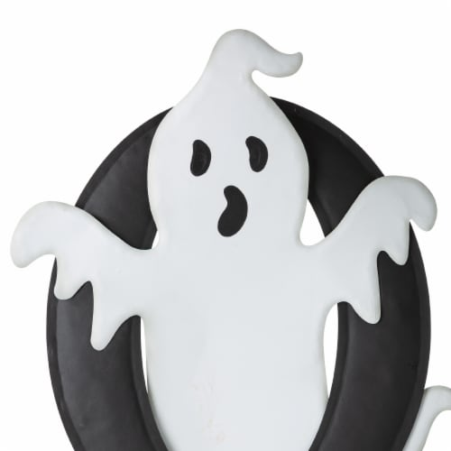 Glitzhome Halloween Metal Printed Ghost BOO Yard Stake Perspective: right