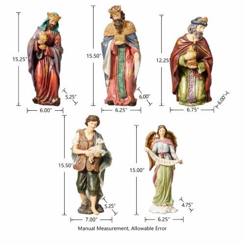 Glitzhome Oversized Resin Nativity Figurine Set Perspective: right