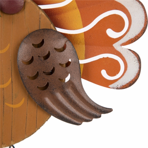Glitzhome Iron/Wooden Turkey Welcome Wall Decoration Perspective: right