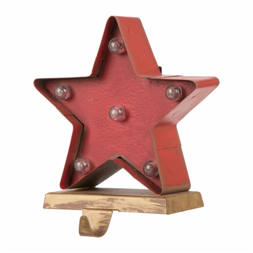 Glitzhome Marquee LED Star Christmas Stocking Holder Perspective: right