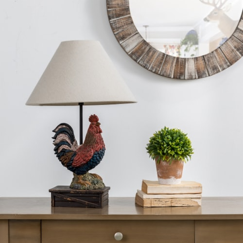 Glitzhome Rooster Table Lamp Perspective: right