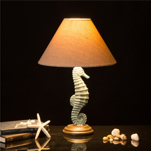 Glitzhome Seahorse Table Lamp Perspective: right