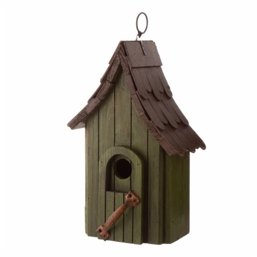 Glitzhome Hanging Distressed Wooden Birdhouse Perspective: right