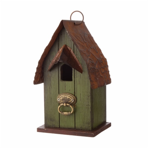 Glitzhome Rustic Garden Bird House Perspective: right