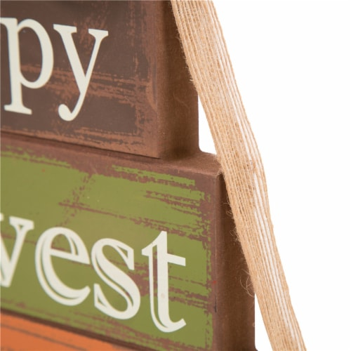 Glitzhome Wooden Happy Harvest Block Set Perspective: right