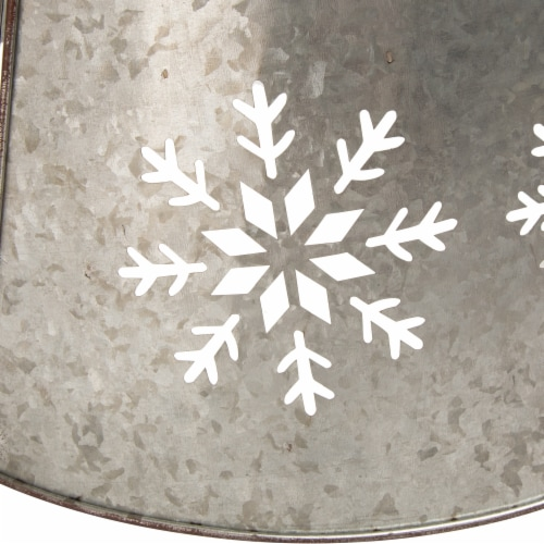 Glitzhome Snowflake Diecut Metal Tree Collar with Lights Perspective: right