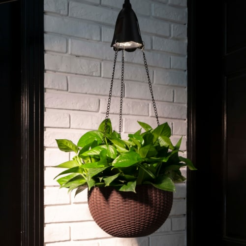 Glitzhome Solar Light Hanging Planter Perspective: right