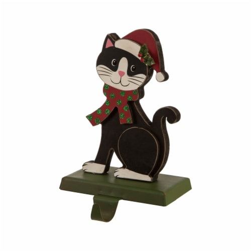 Glitzhome Cat Weighted Christmas Stocking Holder Perspective: right