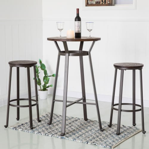 Glitzhome Rustic Metal Steel Bar Table - Coffee Perspective: right