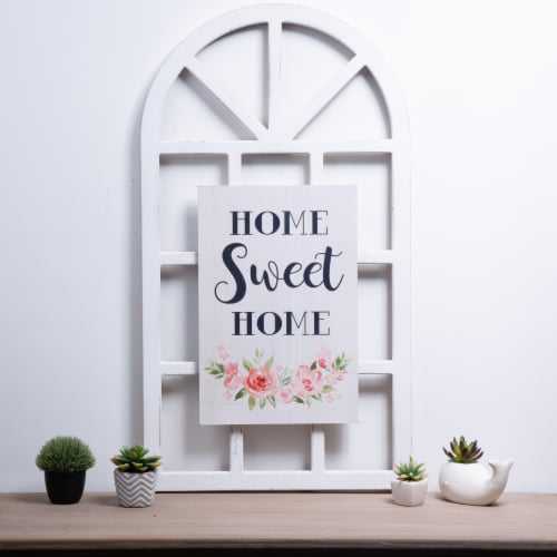 Glitzhome Wooden Window Frame - Home Sweet Home Perspective: right