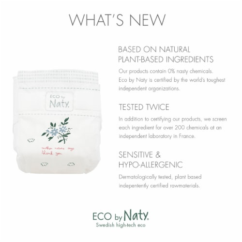 Eco by Naty Size 5 Disposable Diapers 132 Count Perspective: right