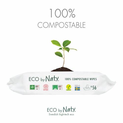 Eco by Naty Unscented Baby Wipes 672 Count Perspective: right