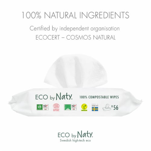 Eco by Naty Baby Wipes with Aloe Vera 672 Count Perspective: right